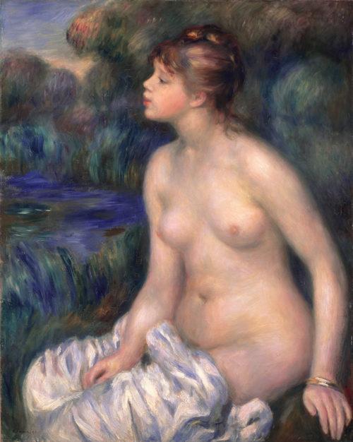 ピエール・オーギュスト・ルノワール 《水浴する女》 1891年