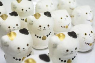 石川紙業 和紙貼り陶器 美濃まねき 招き猫
