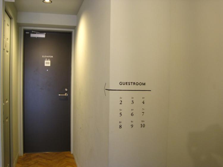 ホテルヴィンテージの外エレベーターへの扉