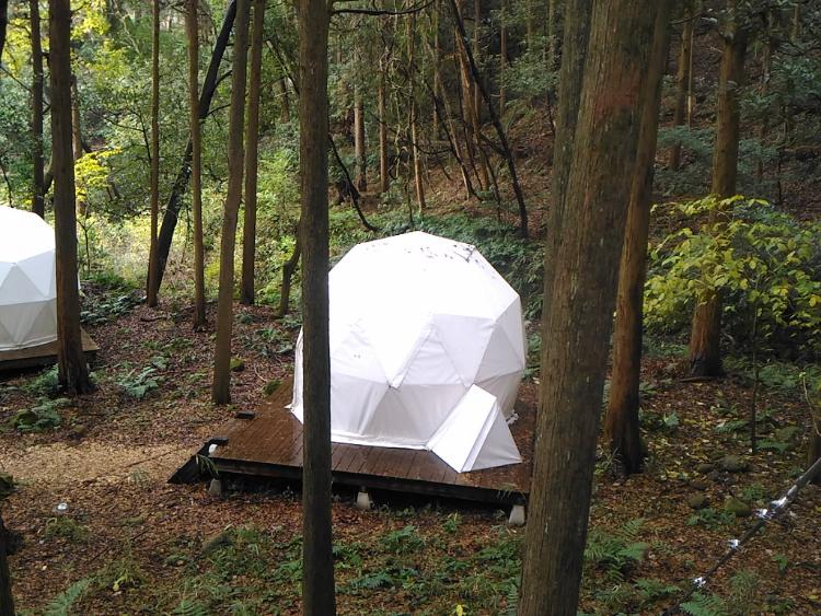インザパークのドームテント