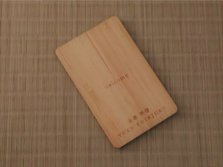 ONSEN RYOKAN 由縁 新宿のカードキー