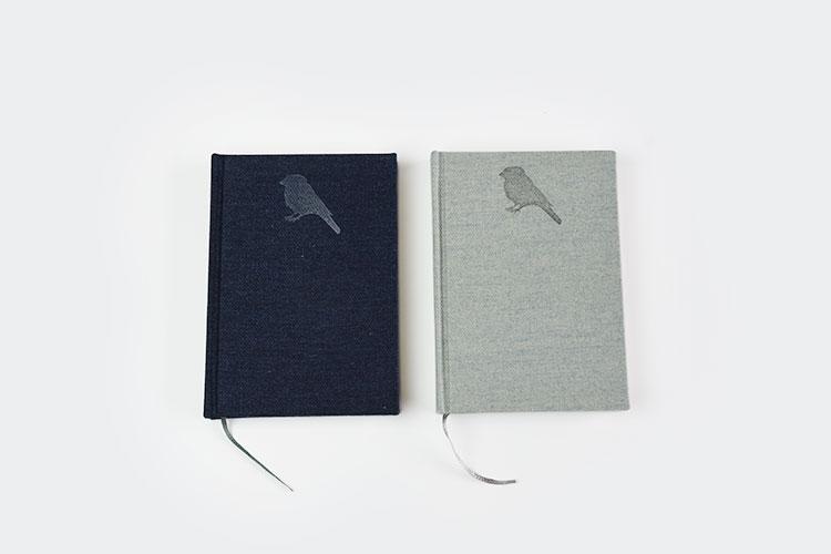すずめや|綿ツイルのデニムカラーノート ライトブルー ブルー