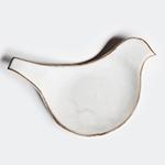 圭秀窯|豆皿 とり 白