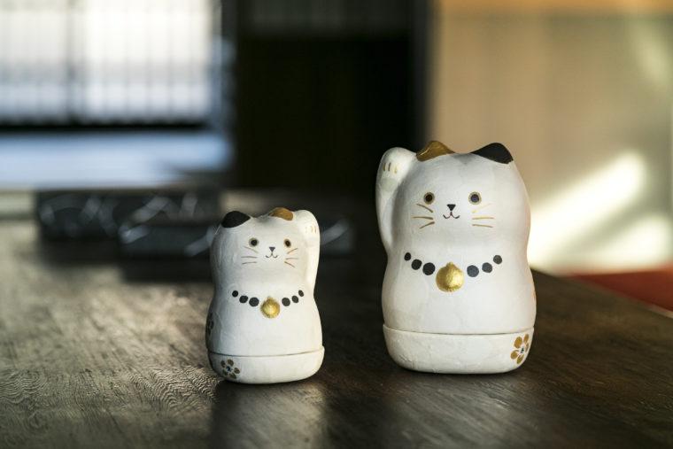 和紙貼り陶器美濃まねき 石川紙業 美濃和紙